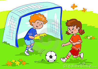 Kids Playing In The Park Royalty Free Stock Photos.
