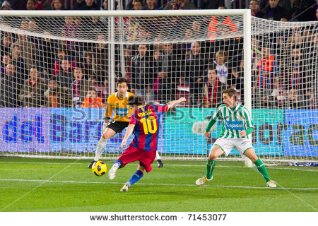 Messi Football Stock Images, Royalty.
