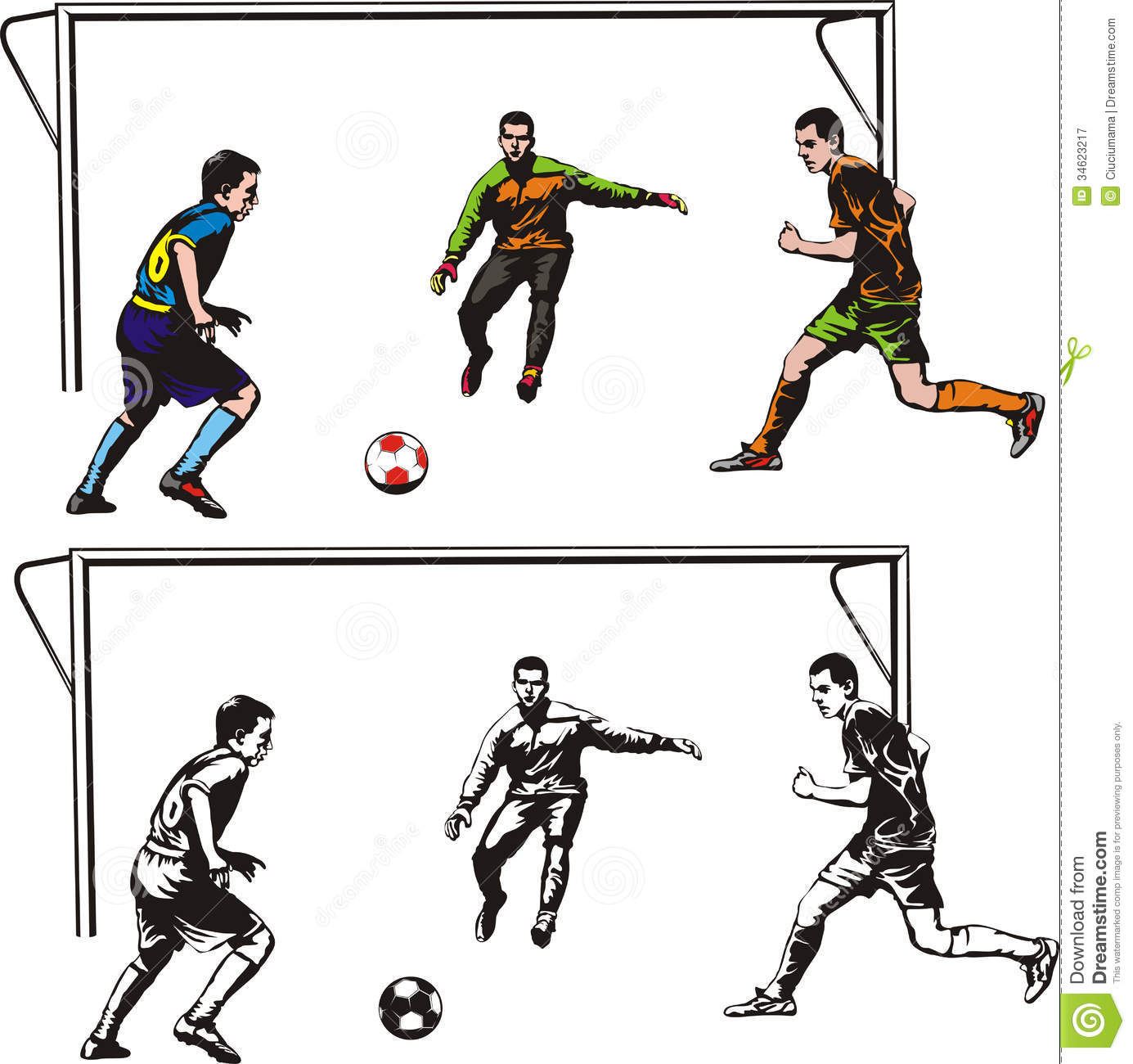 Team Football Game Clip Art.
