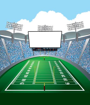 Clipart stadium football.