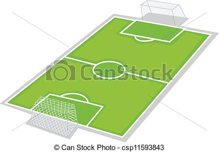 Football ground clipart #5