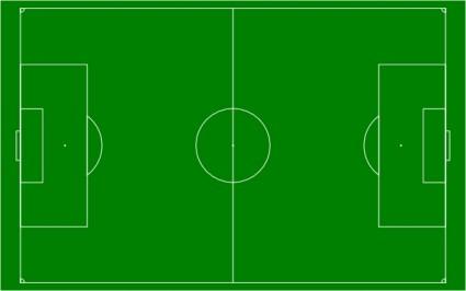 Clip art football field.