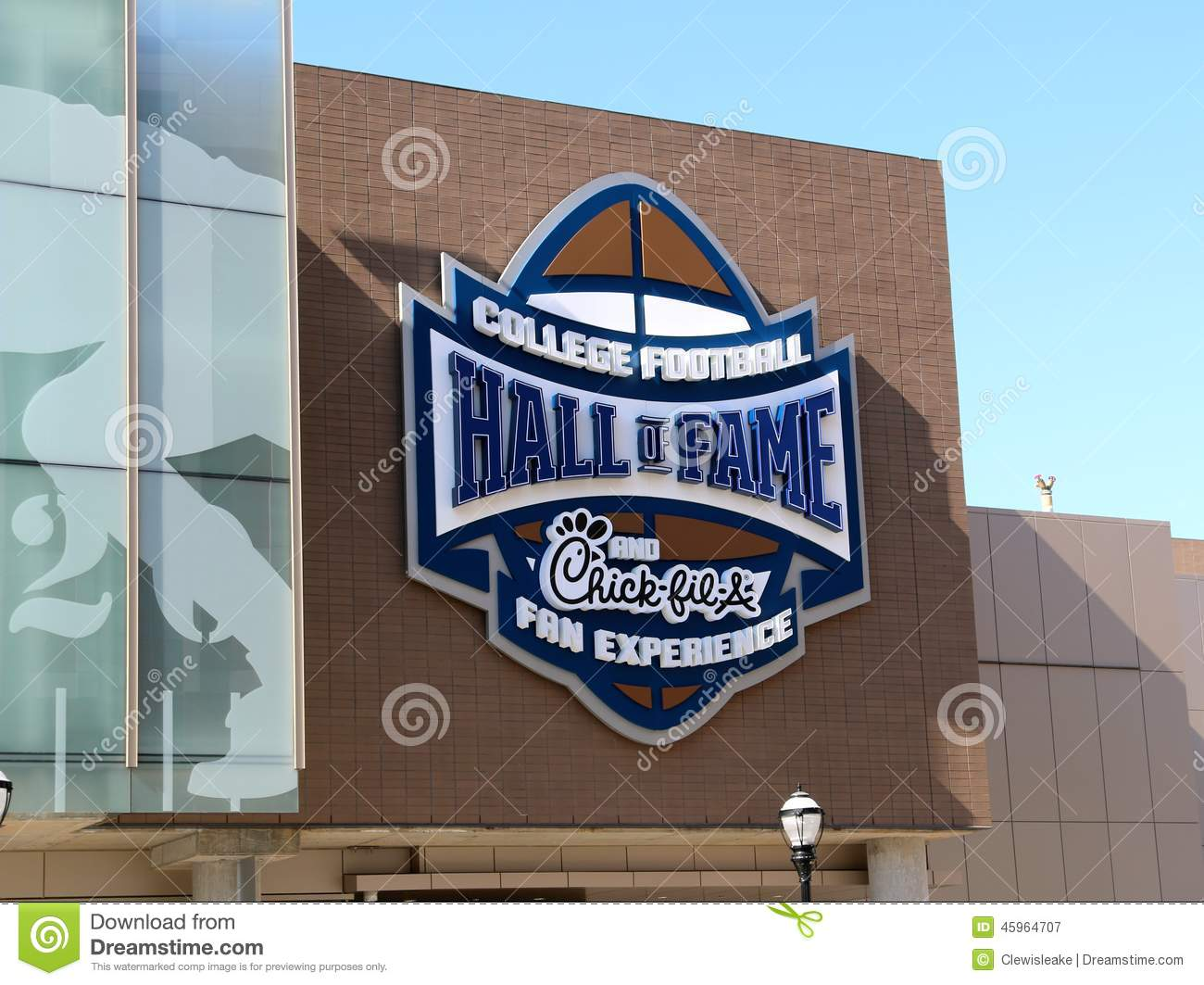 College Football Hall Of Fame Building Atlanta Stock Photo.