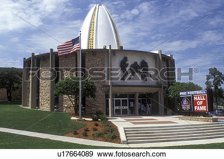 Stock Photograph of Ohio, Canton, football, hall of fame, The Pro.