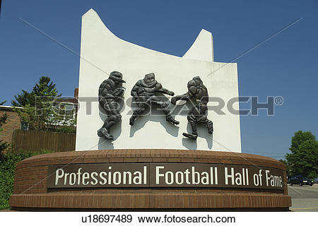 Stock Photograph of Canton, OH, Ohio, Pro Football Hall of Fame.