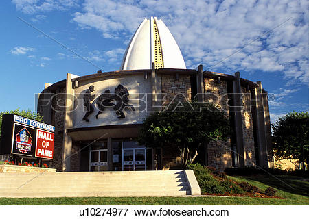Picture of hall of fame, football, Canton, OH, Ohio, Pro Football.