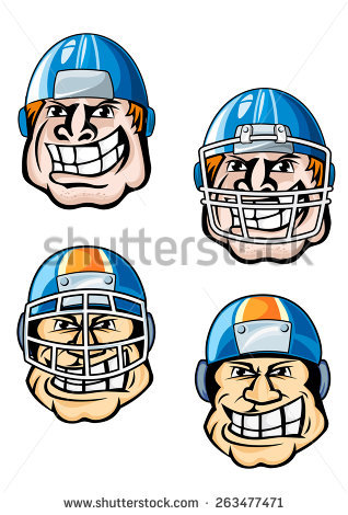 Football Head Stock Images, Royalty.