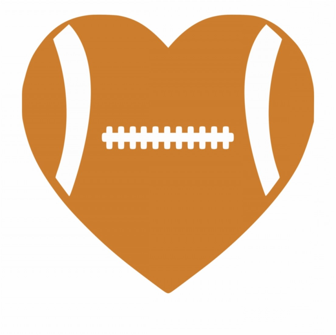 Football Heart Clipart Black And White.