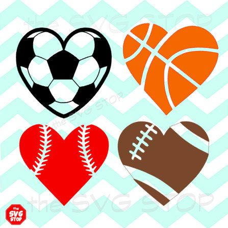 Free Football Heart Clipart Black And White, Download Free.