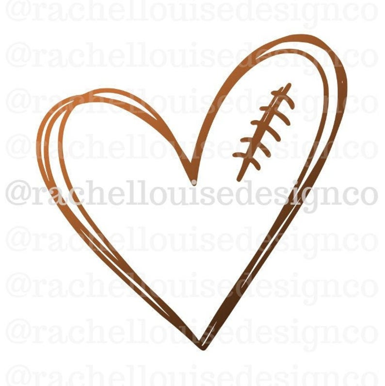 Football Heart SVG, Football Heart DXF, Football Heart PNG, Cut File for  Cricut and Silhouette.