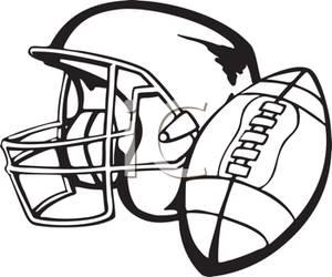A Football Helmet and Football.