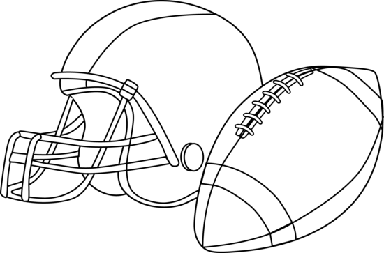 Blank Football Helmet Coloring Pages.