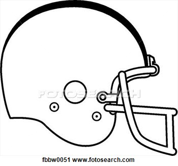 Blank Football Helmet Clipart.