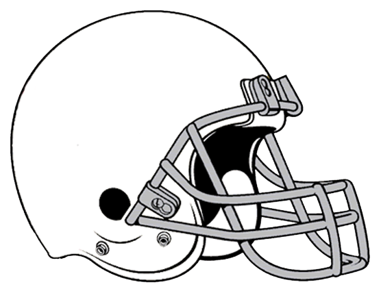 Football Helmet Black And White Clipart.