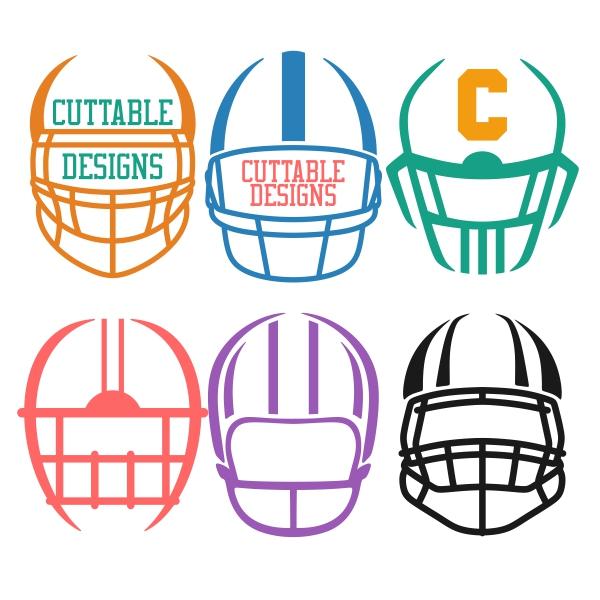Football Helmet Front View Clipart.