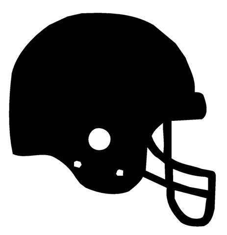 Silhouette Of A Football Helmet.