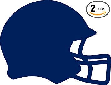 Amazon.com: ANGDEST Football Helmet Silhouette (Navy Blue.