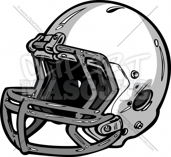 Football Helmet Clipart Graphic Vector Logo.
