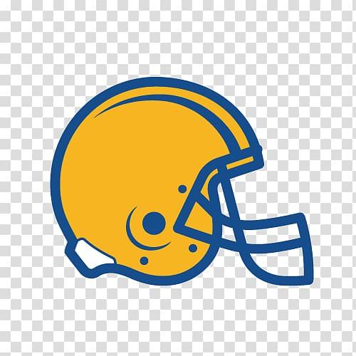 Football helmet , Yellow helmet logo transparent background.