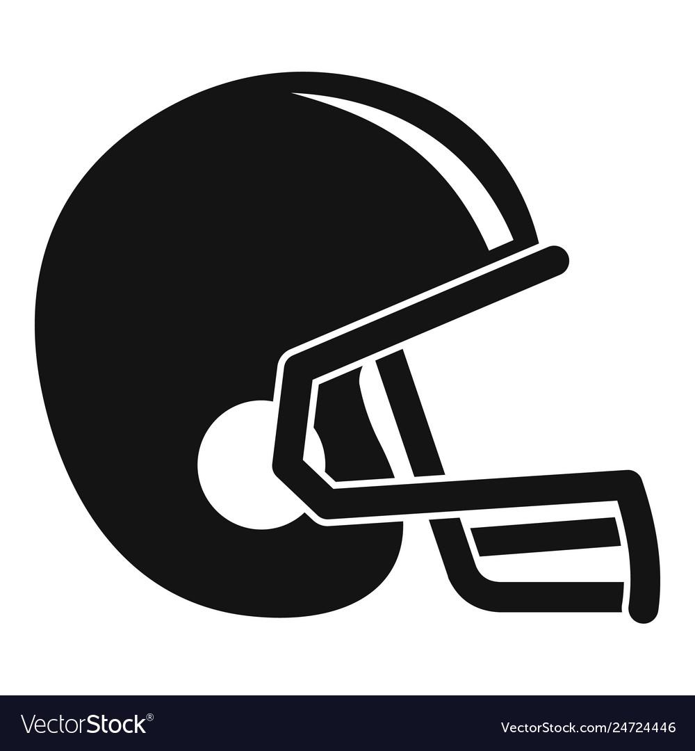 American football helmet icon simple style.