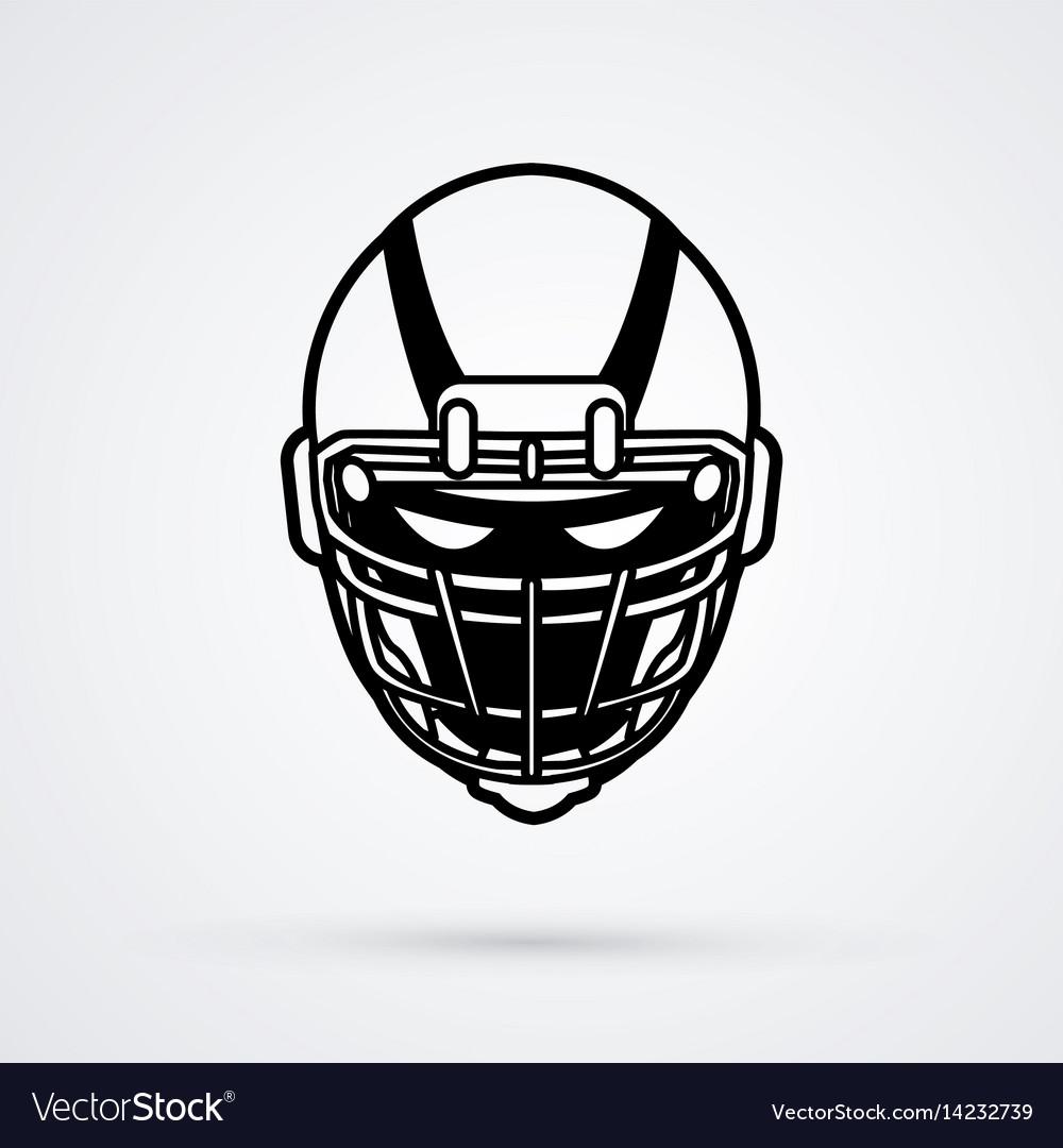 American football helmet graphic.