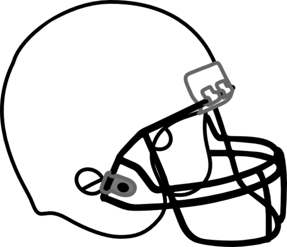 Football Helmet Outline Clipart Free Transparent Png.