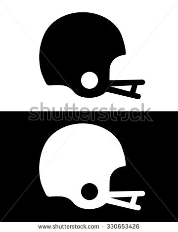 Football Silhouette Stock Images, Royalty.
