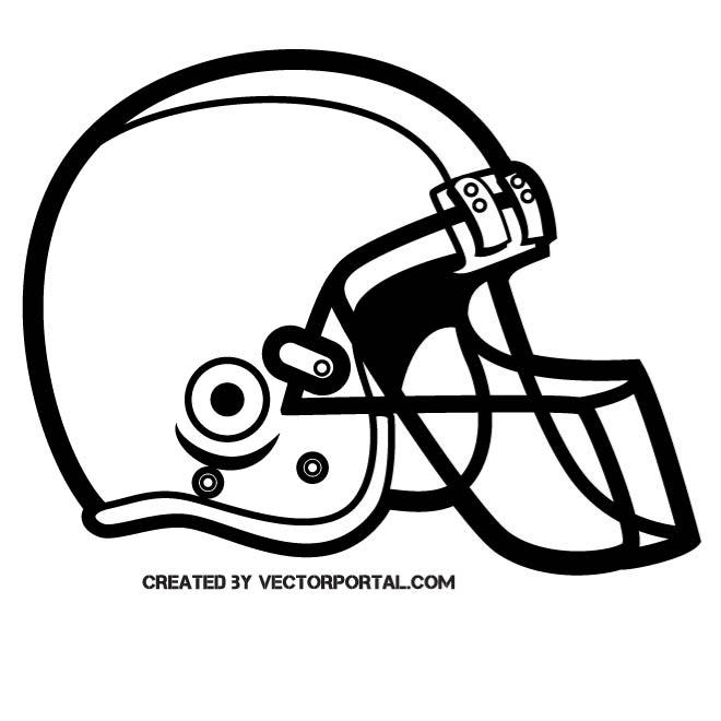 FOOTBALL HELMET SILHOUETTE.