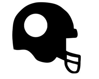 football helmet monogram frame svg dxf file instant download.