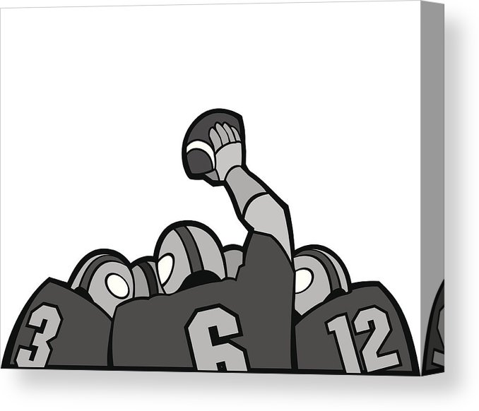 Football Huddle Canvas Print.