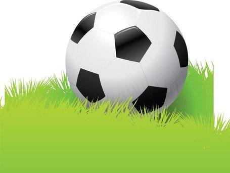 Football In The Grass, Clip Art.