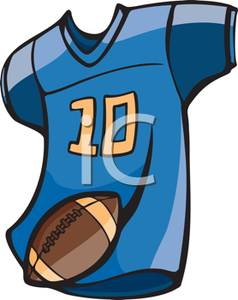A Number Ten Football Jersey and Football.