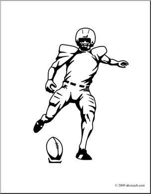 Clip Art: Kickoff B&W I abcteach.com.