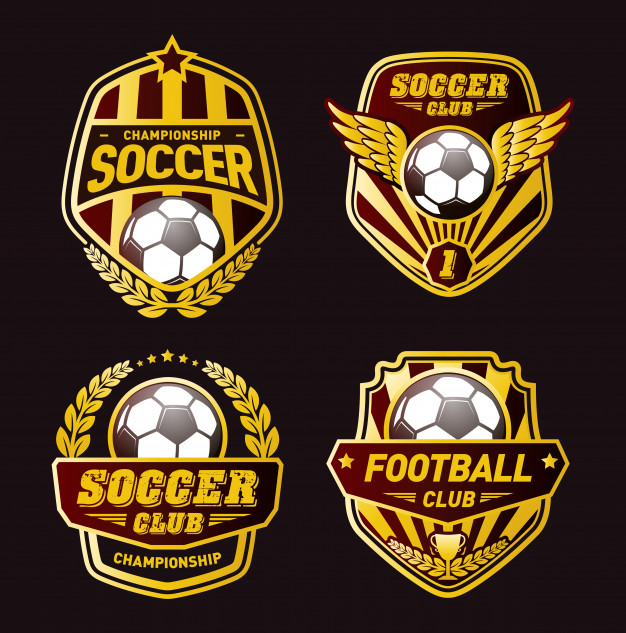 Set of football logo design templates Vector.