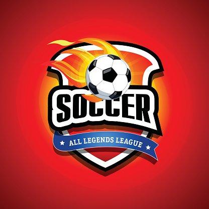 Soccer football badge Logo design template, sport logotype.