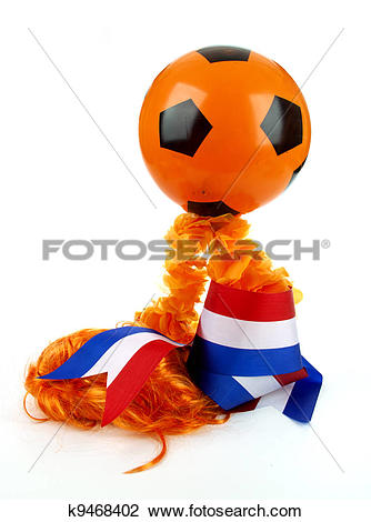 Stock Photo of Football madness of Holland k9468402.