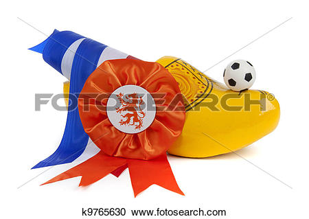 Stock Photography of Football madness of Holland k9765630.