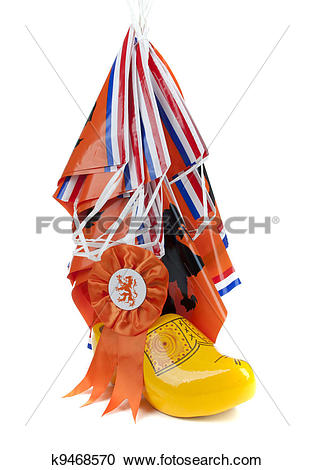 Stock Photography of Football madness of Holland k9468570.