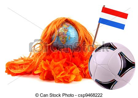 Stock Photo of Football madness of Holland.
