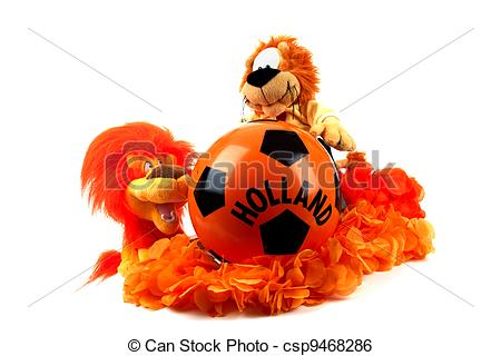 Stock Image of Football madness of Holland.