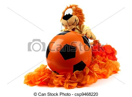 Stock Photography of Football madness of Holland.