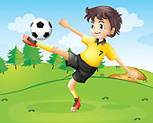 Clipart of Soccer Football Female Player k15086662.