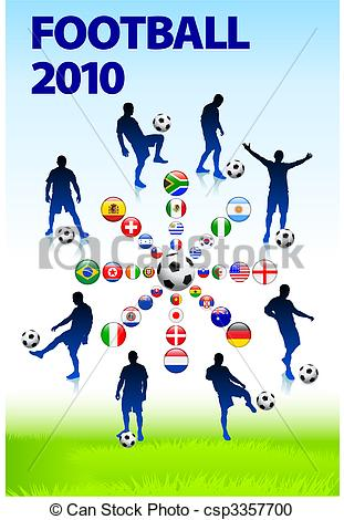Vector Clipart of 2010 Soccer Football Match Original Vector.