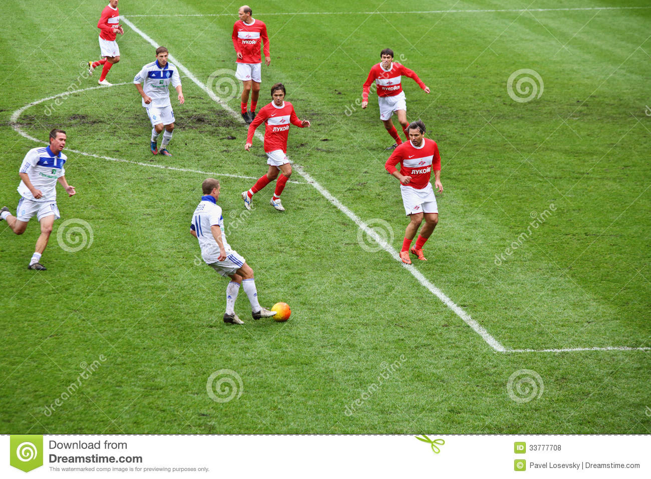 Football Match. Editorial Stock Photo.