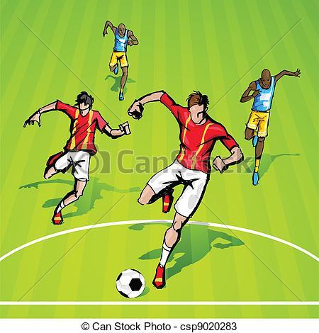 Soccer match clipart.