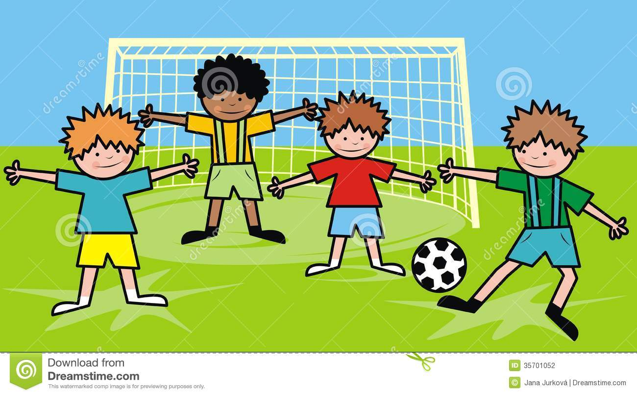 Boys And Football Stock Photography.