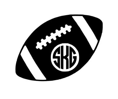 Football Monogram Clipart Clipground
