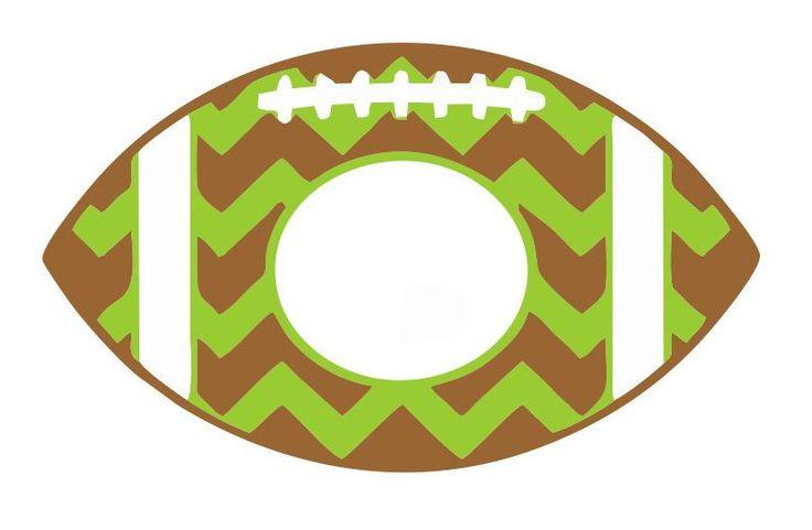 Football Chevron Monogram Instant Download Silhoutte Cricut SVG.