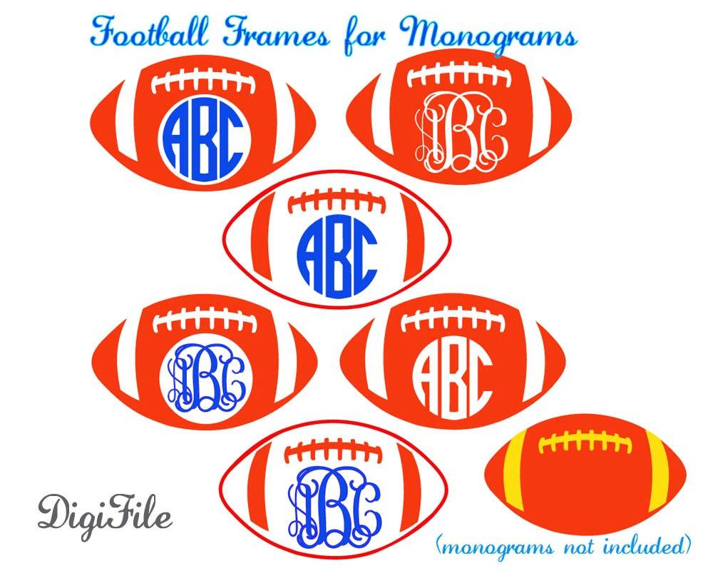 Football Frames for Monograms SVG DXF EPS for Cricut.