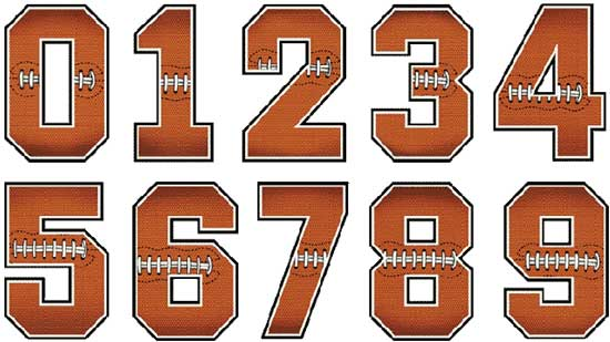 Football Number Clipart.